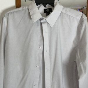 Men's Slim Fit H&M button Down- Medium, White